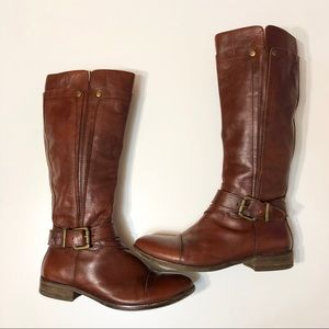 Miz Mooz Brown Leather Zip Up Riding Boots